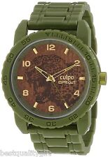 SPROUT ARMY GREEN CORN RESIN BRACELET JAGUAR RESPECT& PROTECT DIAL WATCH SC/7001
