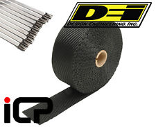 "DEI Black Titanium Heat Exhaust Wrap & Stainless Steel Tie Kit 2""x50FT Roll"