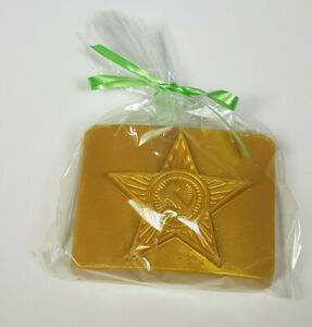 Hand made soap 'Star belt buckle' in Russian Soviet style without SLS & parabens