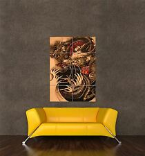 POSTER PRINT PAINTING TATTOO DESIGN ORIENTAL JAPANESE DRAGON FANTASY COOL SEB975