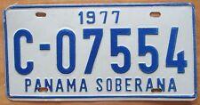 Panama 1977 SOBERANA License Plate NICE QUALITY # C-07554
