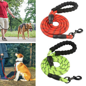 Pet Dog Lead Collar Rope Extra Strong Reflective Rope Pet Training Handle Leash
