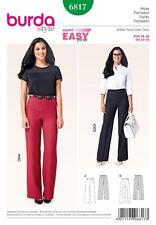 BURDA cucito modello donna vintage anni'70 Pants Pantaloni Taglia 10 - 20 6817