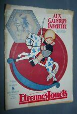 NB CATALOGUE AUX GALERIES LAFAYETTE 1922 ETRENNES JOUET GRANDS MAGASINS MALLET