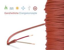 Silikonkabel Fühler Verlängerung Silikonleitung bis 200°C 2-Leiter SILIKON