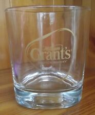 "WILLIAM GRANT'S SCOTCH WHISKY TRIANGULAR GLASS GOLD LETTERING HEIGHT 3½"" (9CM)"