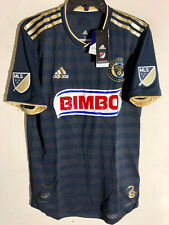 Adidas Authentic MLS PHILADELPHIA UNION TEAM JERSEY NAVY sz 2X