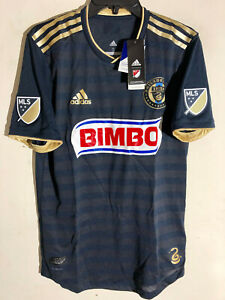Adidas Authentic MLS PHILADELPHIA UNION TEAM JERSEY NAVY sz L