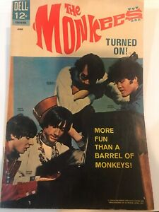 The Monkees - Turned On - June 1968 - Dell Comics - Rare & Collectable - Excelle