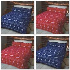 Rapport Bergen 100% Brushed Cotton Flannelette Duvet Cover Bedding Set or Throw