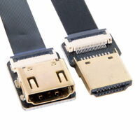 Straight HDMI Type-A Male to Female FPC Flat Cable CYFPV for HDTV Multicopter