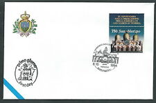 1994 SAN MARINO CONGIUNTA ITALIA FDC SAN MARCO VENEZIA NO TIMBRO ARRIVO - KS4