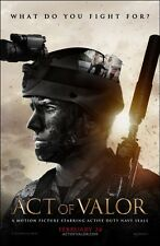 POSTER ACT OF VALOR MIKE MCCOY NAVY SEALS DVD LOCANDINA MOVIE SOLDIER FOTO WAR 1