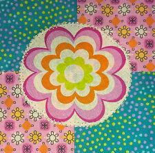 Girls Flower Quilt Patchwork Pattern and Fabric to make yourself