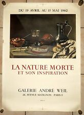 affiche litho 1960 la Nature Morte et son inspiration Galerie Weil Mourlot Paris
