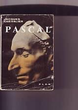 jacques chavalier -- PASCAL  - plon editeur - 1957 -