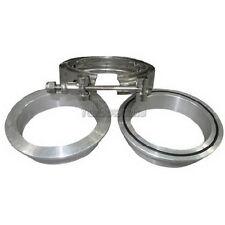"3"" V-Band Clamp & Flange Kit W/ O-ring ALUMINUM Universal Intercooler Turbo Pipe"