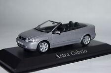 OPEL Opel Astra Cabrio Argento Met. 1:43 Minichamps/OPEL NUOVO + OVP
