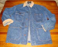 Vintage Mens 1970'S Ralph Lauren Denim Blue Jean Jacket Western Cordoroy M Usa