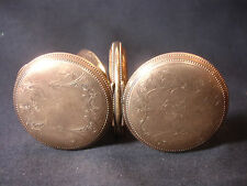 Old Vtg 20 Year Gold Filled Hunter Case Elgin Pocket Watch Jewelry