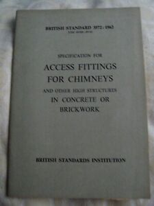 vintage national coal board british access fittings for chimneys 1962
