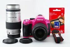 Pentax K-50 16.3MP 18-55/100-300mm Lente Set Rosa [ EXC W/8GB SD Card [4963]