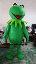 Halloween Kermit The Frog Mascot Costume Adults Fancy Dress Free Fast Shipping A