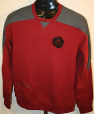 Adidas Mens Pullover Maroon Gray Long Sleeve Crew Neck Sweatshirt Sz Medium NEW