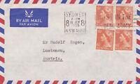 APH180) Australia 1955 small airmail cover to Austria