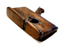 Outil ancien petit rabot à talon pour menuisier carrossier XIXème