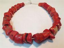 Antique original red natural Coral beads Chinese old necklace 160.4 gram (m761)