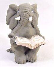 Elephant reading a book mini collection decor figurine
