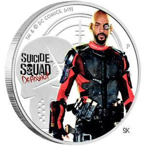 2019 Suicide Squad Deadshot 1oz Silver Proof Coin