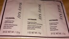 Mary Kay Satin Hands 3 steps to soft hands scrub softener hand cream samples