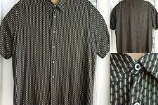 Manhattan Mens Shirt XL Short-Sleeve Lightweight Rayon