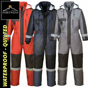 Portwest Winter Coverall - Winter Waterproof Padded Quilted -  Tunnel Suit S585