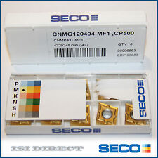 CNMP 431 MF1 CP500 SECO *** 10 INSERTS *** FACTORY PACK *** CNMG