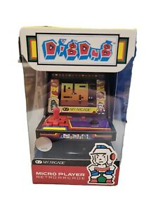 """My Arcade 6"""" Dig Dug  Retro Video Game Micro Player Collectible Toy W5"""