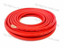 8 Gauge AWG RED Power Ground Wire Sky High Car Audio Sold By The Foot GA ft