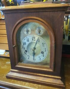 Junghans Germany 5 Chime 8 Day Clock Early 1900s