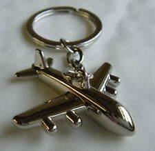 Chrome Metal Airplane Keyring Chrome Keychain Gift Boxed