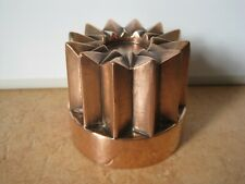 More details for antique victorian copper jelly mould with 12 point star top & tinned interior