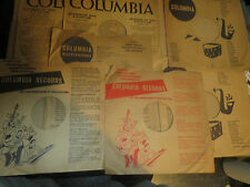 """10""""  2 Columbia 78rpm sleeve sleeves Your Choice of 2 from many varieties"""