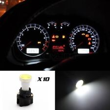 10) For Ford Instrument Panel COB LED Light Bulbs With PC74 T5 Sockets White kit