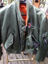 SCHOTT NYC MA-1 Rare  MILITARY USA Made us wings  embroidery JACKET Sz XL