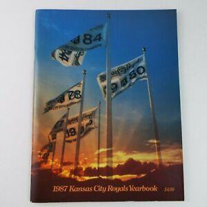 1987 Kansas City Royals Yearbook MLB Baseball White, Brett, Wilson, Bo Jackson