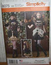 Womens/Misses Steampunk Dress Costumes Sewing Pattern/Simplicity 8075/SZ 6-14/UN