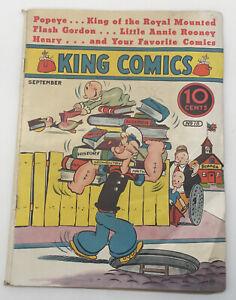 King Comics September 1937 No. 18 Popeye, Flash Gordon, Little Annie Comic Book