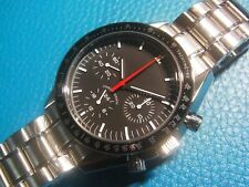 Unbranded Black Sterile Dial Speedmaster Style Hand Winding Chronograph Watch