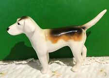 BESWICK DOG FOXHOUND MODEL No. 942 1st VERSION BROWN AND WHITE GLOSS PERFECT